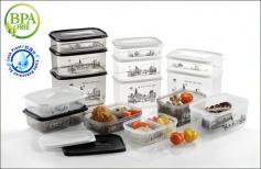 Modern Series Food Container (Smokey & White)