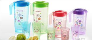 Flora Water Jug & Cups