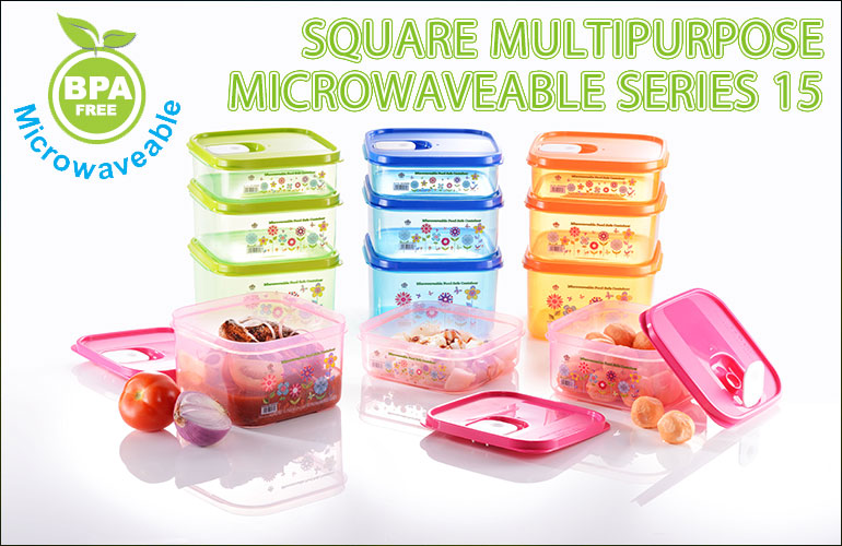 Microwaveable Square Multipurpose Series 15