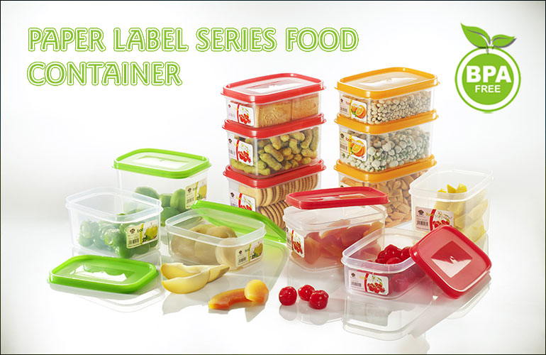 Paper Label Series Food Container