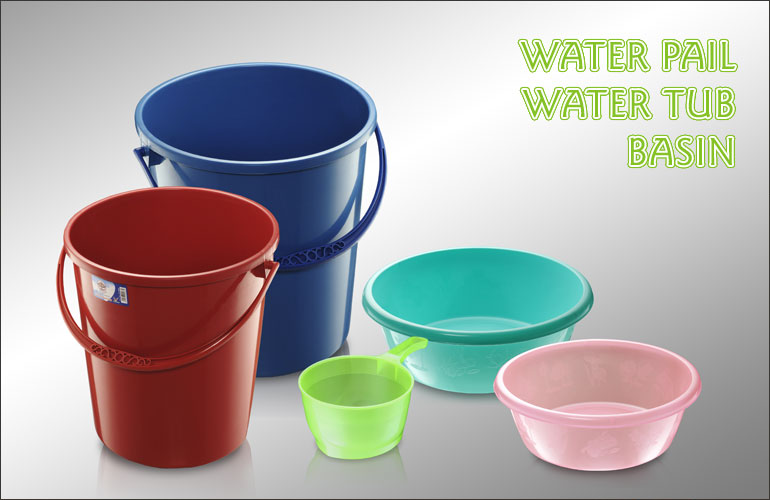 Water Tub, Water Pail And Basin
